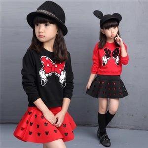 NWT Girls 5-6 Minnie Mouse set